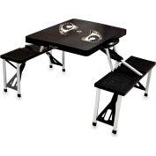 Picnic Table-Black (Virginia Commonwealth Univ. Rams) Digital Print - Logo