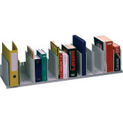 """Paperflow Individualized Vertical Organizer Gray, 44""""W x 10-5/6""""D x 8-1/4""""H"""