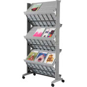 Paperflow Double Sided XL Literature Display Silver