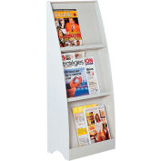 Paperflow 3 Compartment Floor Literature Display Gray