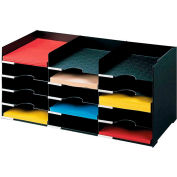 "Paperflow Stackable Horizontal Organizer Black, 26-1/2""W x 12""D x 12-1/3""H"