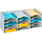 "Paperflow Stackable Horizontal Organizer Gray, 26-1/2""W x 12""D x 12-1/3""H"
