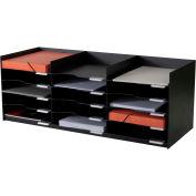 "Paperflow Stackable Horizontal Organizer Black, 33-3/4""W x 13""D x 12-5/7""H"