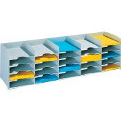 "Paperflow Stackable Horizontal Organizer Gray, 44""W x 12""D x 12-1/3""H"