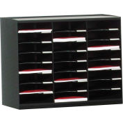 Paperflow Master Literature Organizers 24 Compartments Black