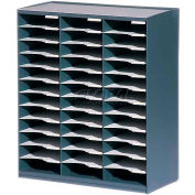 Paperflow 36-Compartment Master Literature Organizer Charcoal/Gray