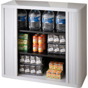 """Paperflow Plastic EasyOffice Storage Cabinet EE000005 - 41""""H  with Two Shelves, Gray"""