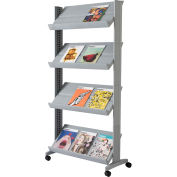 """Paperflow Single Sided """"XL"""" Literature Display Silver"""