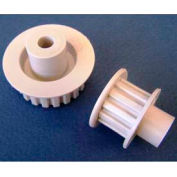 Plastock® Timing Belt Pulleys 15mdf, Acetal, Double Flange, 0.0816 Pitch, 15 Teeth