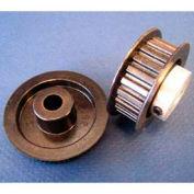 Plastock® Timing Belt Pulley 24t0800dfah1s, Lexan, Al Hub, Dbl Flange, 0.8 Ptch, 24 Teeth