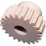Plastock® Spur Gears 48-18, Acetal, 20° Pressure Angle, 48 Pitch, 18 Tooth