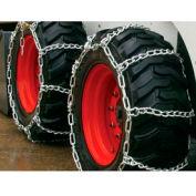 3400 Series Skid Loader Chains w/ HD Twist Cross Chains, 4 Link (Pair) - 0341055