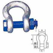 "Peerless™ 8063405 7/16"" Safety Pin Anchor Shackle - Pkg Qty 100"