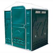 """PolyPortables Senator ADA Portable Restroom, Green 64""""L x 77""""W x 92""""H - PPSENT-06"""
