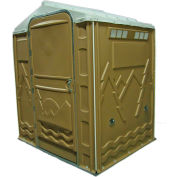 """PolyPortables Senator ADA Portable Restroom, Tan 64""""L x 77""""W x 92""""H - PPSENT-13"""