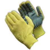 PIP Kut-Gard® Kevlar® Gloves, 100% Kevlar®, Light Weight, PVC Dots One Side, S