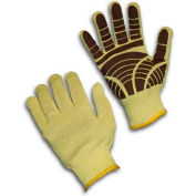 PIP Kut-Gard® Kevlar® Gloves, 100% Kevlar®, Medium Weight, PVC Tiger, L
