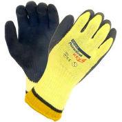 PIP PowerGrab™ KEV Gloves, Kevlar® W/Blue Latex MicroFinish™ Grip, Cut Level 4, M