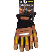 PIP Maximum Safety® Journeyman KV, Professional Workman's Glove, Brown, XXL, 1 Pair