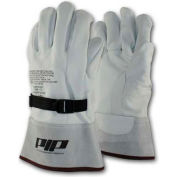 PIP Top Grain Goatskin Leather Protector For Novax® Gloves, White, Size 8