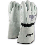 PIP Top Grain Goatskin Leather & Nylon Protector For Novax® Gloves, Orange & White, Size 10