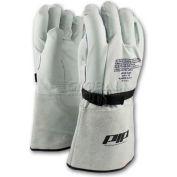 PIP Top Grain Goatskin Leather & Nylon Protector For Novax® Gloves, Orange & White, Size 8