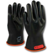PIP Electrical Rated Gloves, Black W/Orange Inner Color, Class 0, Size 12