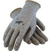 PIP G-Tek® CR Polyurethane Salt & Pepper Grip Gloves with HPPE Liner, Gray, L, 1 DZ