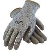 PIP G-Tek® CR Polyurethane Salt & Pepper Grip Gloves with HPPE Liner, Gray, L, 1 DZ