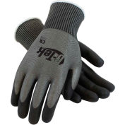 PIP G-Tek® CR Polyurethane Gray Grip Gloves W/ HPPE/Glass Liner, Black Palm/Fingers, L, 1 DZ