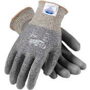 PIP G-Tek® 3G10 DSM Dyneema® Gloves, Gray & Black Knit W/Gray Polyurethane Palm, L