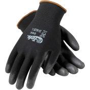 PIP® 33-B125/M G-Tek® GP™ General Duty Nylon Glove, Polyurethane Coated, Black, M
