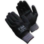PIP G-Tek® MaxiFlex Plus III Gloves, Nitrile Dotted Palm, Fully Black Micro-Foam, 1 Dozen, XS - Pkg Qty 12