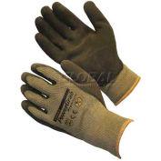PIP PowerGrab™ Premium Gloves, Brown Latex W/ MicroFinish™, M