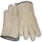 PIP Top Grain Cowhide Drivers Gloves, Straight Thumb, Quality Grade, L