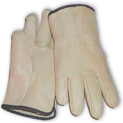 PIP Top Grain Cowhide Drivers Gloves, Straight Thumb, Quality Grade, XS