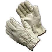 PIP Top Grain Cowhide Drivers Gloves, Straight Thumb, Regular Grade, S