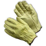 PIP Top Grain Cowhide Drivers Gloves, Straight Thumb, Economy Grade, S