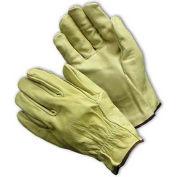 PIP Top Grain Cowhide Drivers Gloves, Straight Thumb, Economy Grade, XL