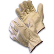 PIP Top Grain Cowhide Drivers Gloves, Wing Thumb, Quality Grade, M