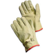 PIP Top Grain Cowhide Drivers Gloves, Straight Thumb, Quality Grade, Pull, S