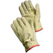 PIP Top Grain Cowhide Drivers Gloves, Straight Thumb, Quality Grade, Pull, XL