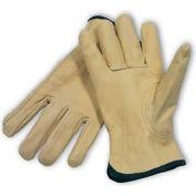 PIP Top Grain Cowhide Drivers Gloves, Keystone Thumb, Quality Grade, S