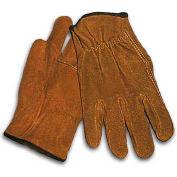PIP Split Cowhide Drivers Gloves, Regular Grade, Straight, Golden Brown, XL