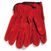 PIP Split Cowhide Drivers Gloves, Premium Grade, Straight Thumb, Russet, S