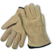PIP Top Grain Pigskin Drivers Gloves, Premium Grade, Straight Thumb, S