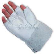 PIP Top Grain Goatskin Drivers Gloves, Fingerless Goatskin Bundlers, 2, M