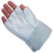 PIP Top Grain Goatskin Drivers Gloves, Fingerless Goatskin Bundlers, 2, XL
