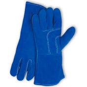 PIP Welder's Gloves, Blue Bison, Select Shoulder Grade W/Cotton Lining, Blue, L