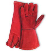 PIP Welder's Gloves, Red Viper, Select Shoulder Grade W/Cotton Lining, Russet, Right Hand Only